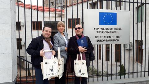 ԷՐԱԶՄՈՒՍ + ՍՄԱՐԹ ծրագրի գործընկերների այցը Հայաստանում Եվրոպական Միության պատվիրակություն