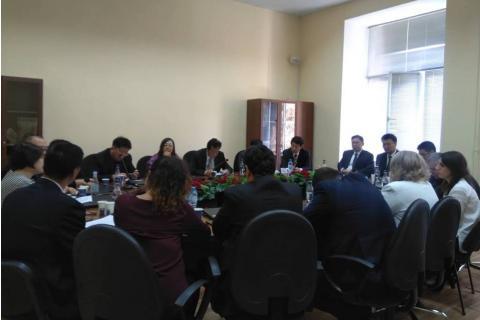 Չինաստանի հասարակական գիտությունների ակադեմիայի (ՉՀԳԱ) պատվիրակության այցը ԵՊԼՀ