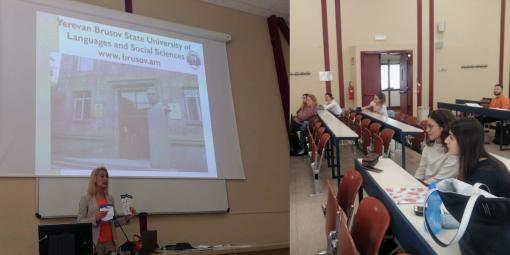 ԵՊԼՀ դասախոս Էրիկա Ավակովան դասախոսություններով հանդես եկավ Վերոնայի համալսարանում